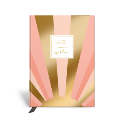 Original Life Personalised Planner Dream Goal Productivity Wellness Wellbeing Sunrise Blush Pink Gold Foil Sustainable Eco friendly