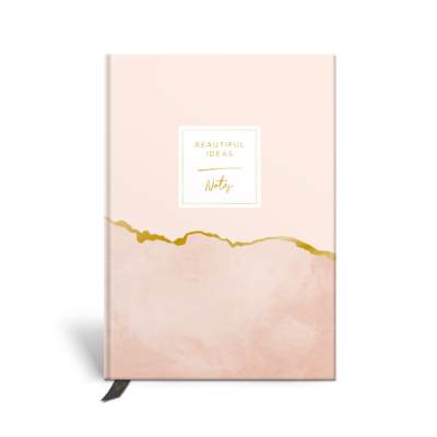 Original Life Personalised Notebook Marble Blush Gold Foil Sustainable Eco friendly