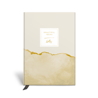 Original Life Personalised Notebook Marble Gold Foil Sustainable Eco friendly