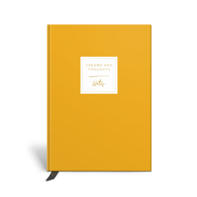 Original Life Personalised Notebook Solo Plain Mustard Gold Foil Sustainable Eco Friendly