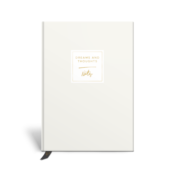 Original Life Personalised Notebook Solo Plain Stone Gold Foil Sustainable Eco Friendly