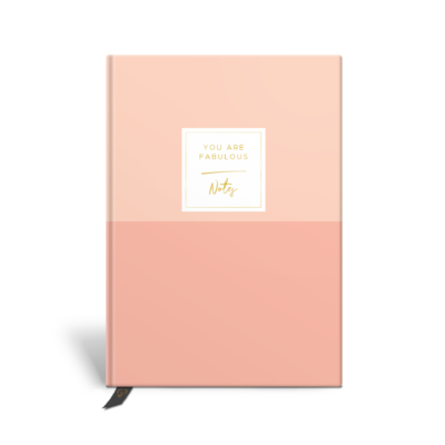 Original Life Personalised Notebook Duet Blush Pink Gold Foil Sustainable Eco Friendly