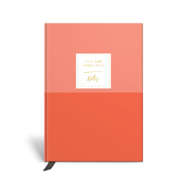Original Life Personalised Notebook Duet Coral Gold Foil Sustainable Eco Friendly