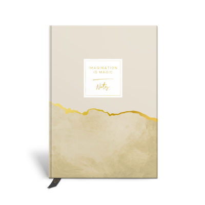 Original Life Personalised Notebook Marble Mustard Yellow Gold Foil Sustainable Eco friendly