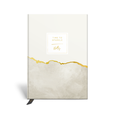 Original Life Personalised Notebook Marble Stone Gold Foil Sustainable Eco friendly