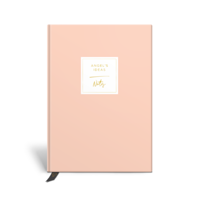 Original Life Personalised Notebook Plain Solo Blush Pink Gold Foil Sustainable Eco Friendly