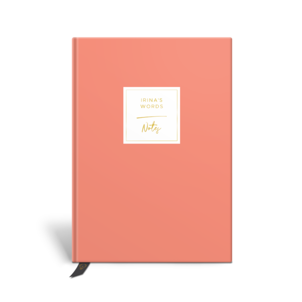 Original Life Personalised Notebook Solo Plain Coral Gold Foil Sustainable Eco Friendly