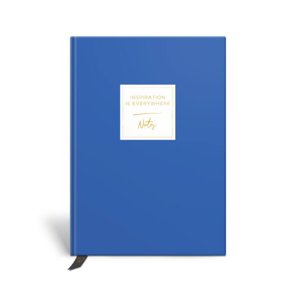 Original Life Personalised Notebook Solo Plain Cornflower Blue Gold Foil Sustainable Eco Friendly
