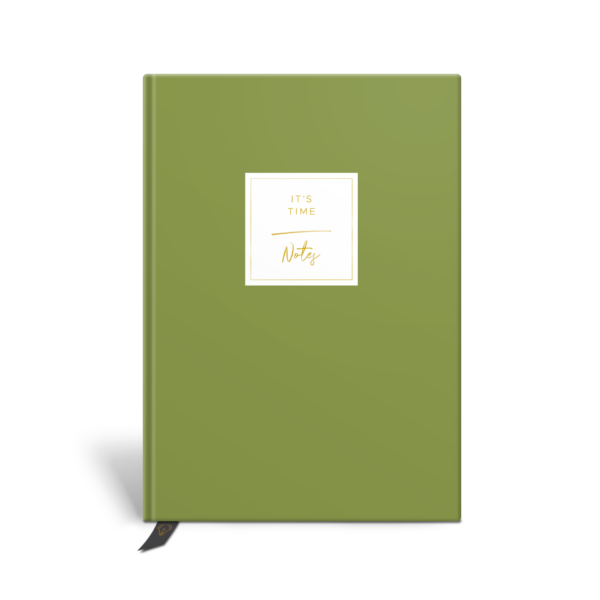 Original Life Personalised Notebook Solo Plain Meadow Green Gold Foil Sustainable Eco Friendly