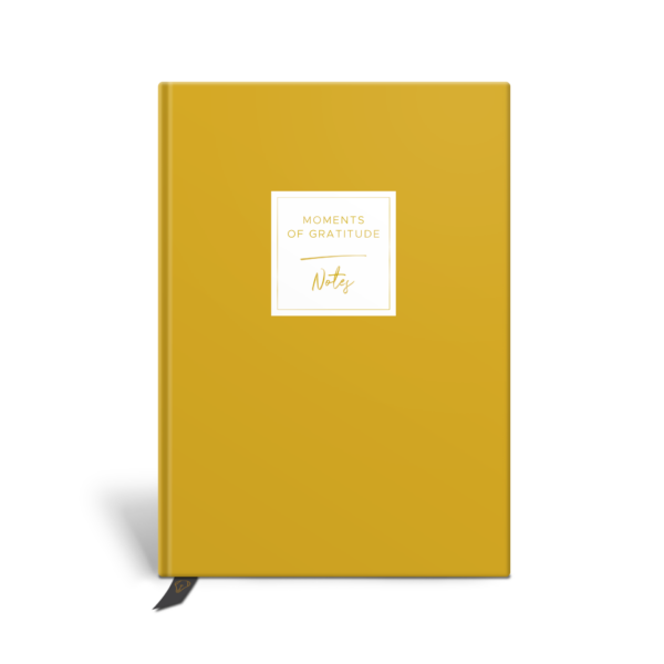 Original Life Personalised Notebook Solo Mustard Yellow Plain Gold Foil Sustainable Eco friendly