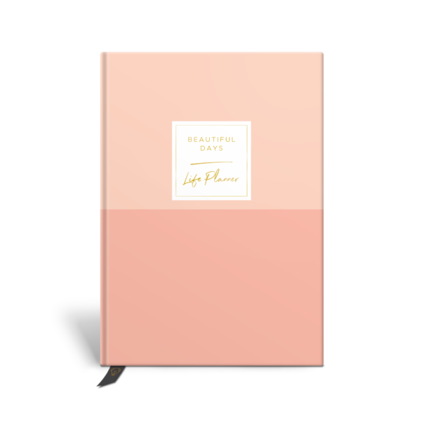 Original Life Personalised Planner Dream Goal Productivity Wellness Wellbeing Duet Blush Pink Gold Foil Sustainable Eco Friendly