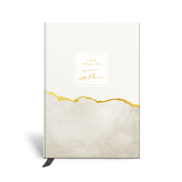 Original Life Personalised Planner Goal Dream Productivity Wellness Wellbeing Marble Stone Gold Foil Sustainable Eco friendly