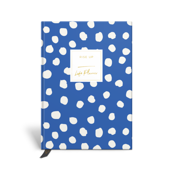 Original Life Personalised Planner Polka Dot Cornflower Blue Gold Foil Sustainable Eco Friendly