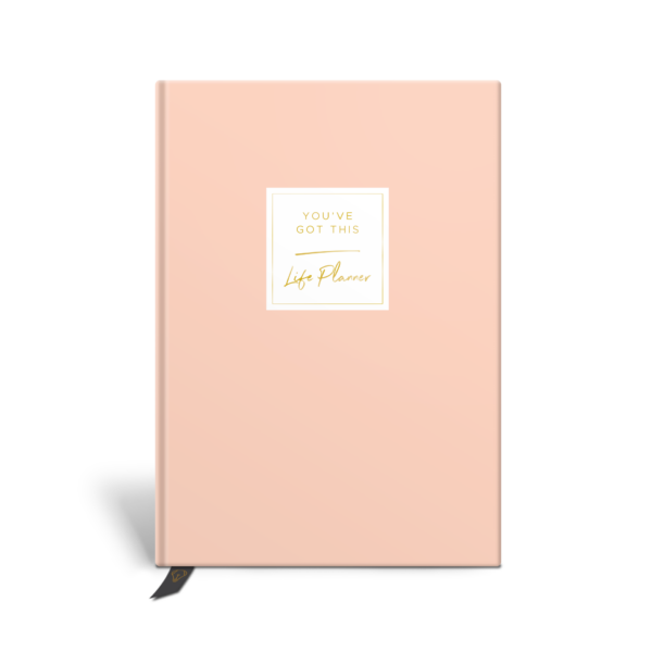 Original Life Personalised Planner Dream Goal Productivity Wellness Wellbeing Solo Plain Blush Pink Gold Foil Sustainable Eco Friendly