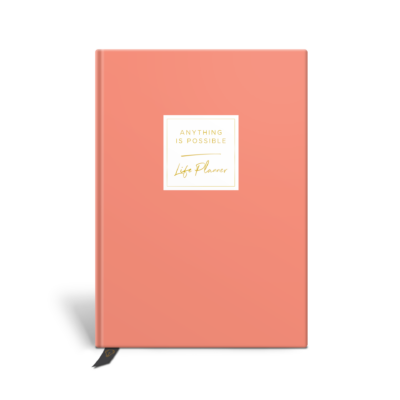 Original Life Personalised Planner Dream Goal Productivity Wellness Wellbeing Solo Plain Coral Gold Foil Sustainable Eco Friendly