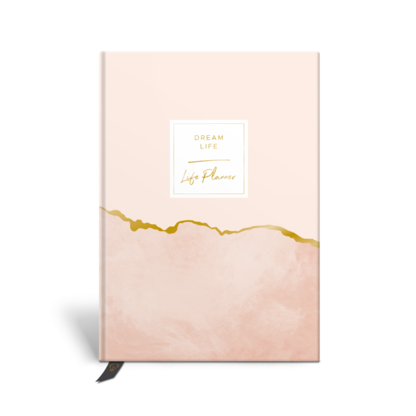 Original Life Personalised Planner Goal Dream Productivity Wellness Wellbeing Marble Blush Gold Foil Sustainable Eco friendly