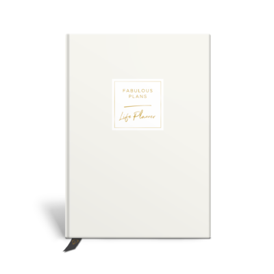 Original Life Personalised Planner Dream Goal Productivity Wellness Wellbeing Solo Plain Stone Gold Foil Sustainable Eco Friendly