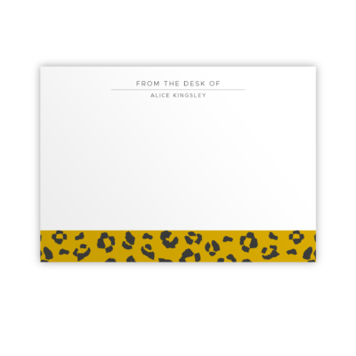 Original Life Personalised Notecard Leopard Mustard Sustainable Eco Friendly