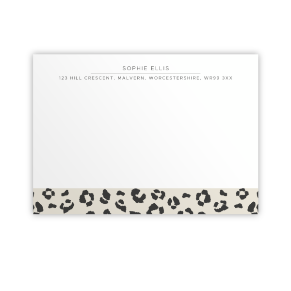 Original Life Personalised Notecard Leopard Stone Sustainable Eco Friendly