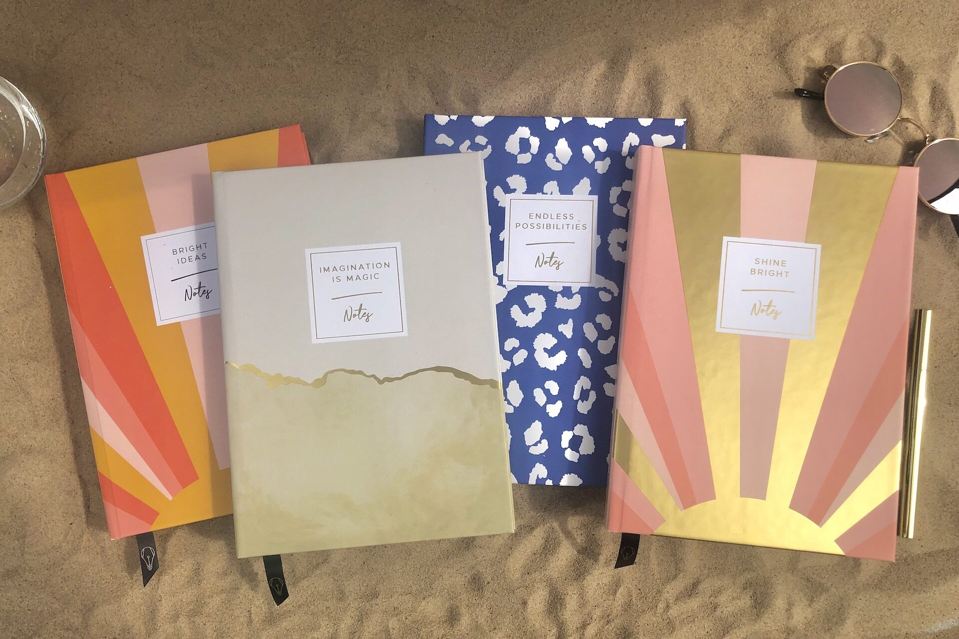 Original Life personalised stationery gold foil mustard yellow cornflower blue blush pink coral sustainable