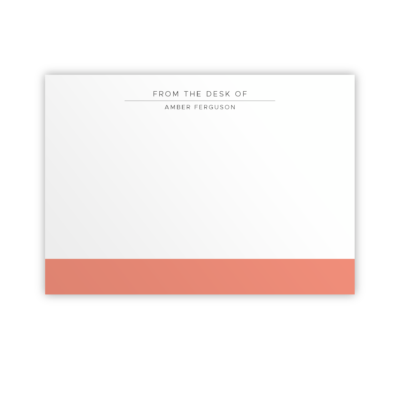 Original Life Personalised Notecard Duet Coral Sustainable Eco Friendly
