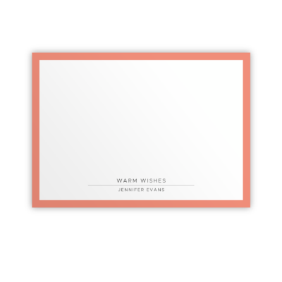Original Life Personalised Notecard Solo Coral Sustainable Eco Friendly