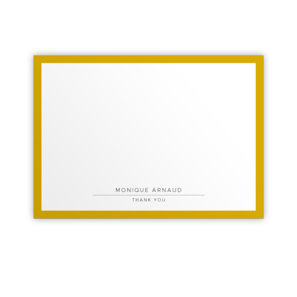 Original Life Personalised Notecard Solo Mustard Sustainable Eco Friendly