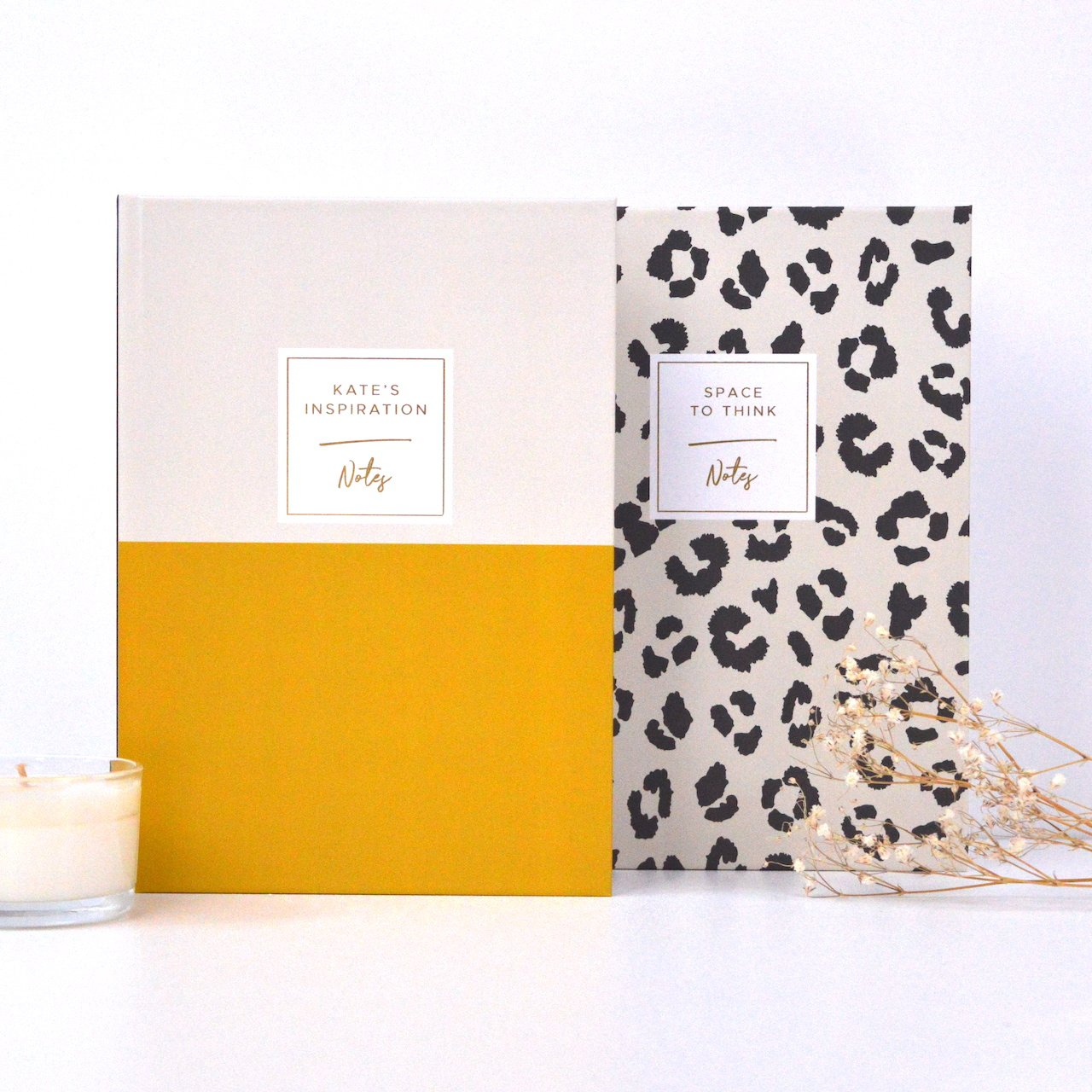 Original Life personalised notebooks gold foil sustainable